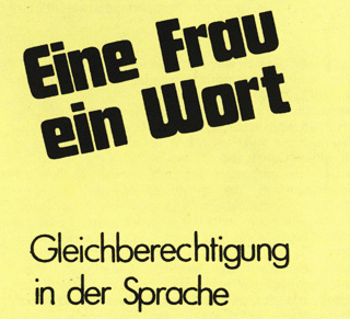 Broschüre Frauenbüro Bielefeld, Detail (FMT-Signatur: FB.01.087)