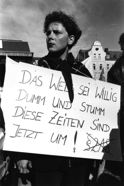 Demonstration in Memmingen, 1989 (FMT-Signatur FT.02.131)