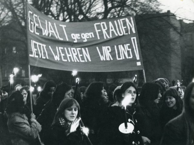 Demonstration, 1976, © Redl-von Peinen, Margarete (FMT-Signatur: FT.02.006)