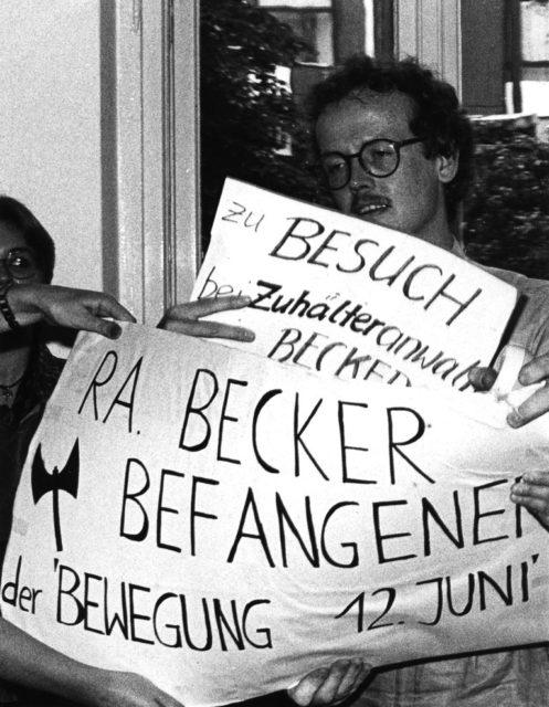 Aktion gegen den Rechtsanwalt Niklas Becker in Berlin, 12.04.1979 (FMT-shelfmark: FT.02.0192)