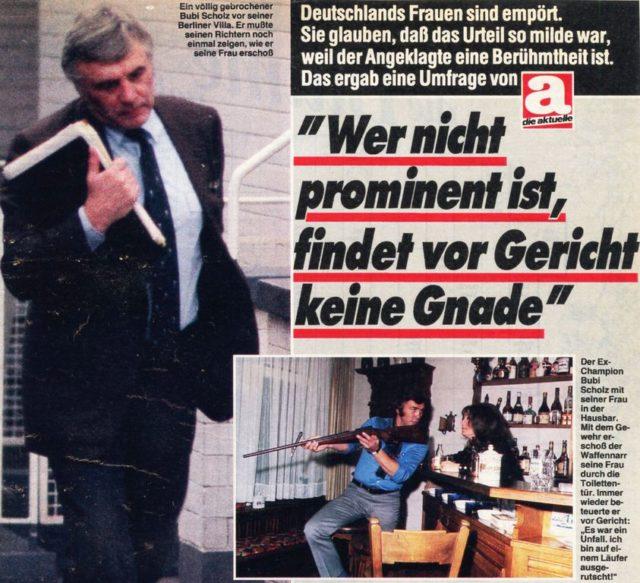 "Gustav ""Bubi"" Scholz-Prozess, 1984, Siehe Pressedokumentation: Frauenmord III : Mord an Ehefrauen und Lebensgefährtinnen ; berühmte Fälle (FMT-Signatur: PD-SE.01.04)"