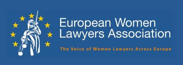Logo der European Women Lawyers Association (EWLA)