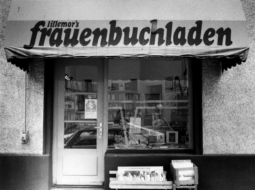 Lillemor's Frauenbuchladen München, Bildquelle: EMMA-Archiv, © Monika Neuser (FMT-Signatur: FT.02.0230)
