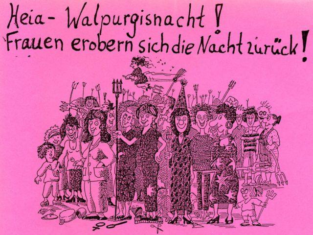 Aufruf Walpurgisnachtdemo, 1991, Link zum Flugblatt, FMT-Signatur: FB.07.243