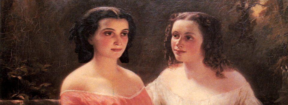 Hedwig Dohm mit Schwester_Zuschnitt