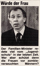 Familienminister Heiner Geissler, Link zur Quelle: EMMA Nr. 3, 1984, S.52