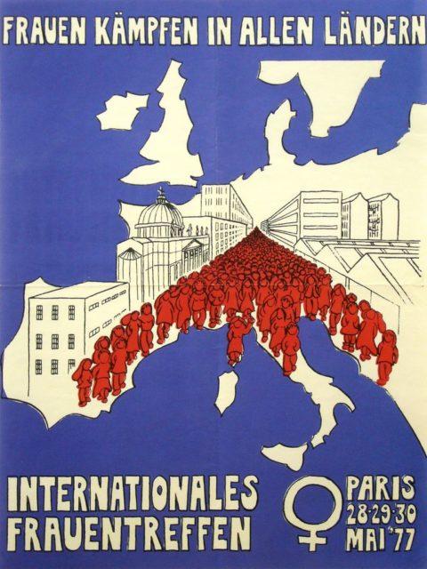 Plakat: Internationales Frauentreffen Paris, Mai 1977 (FMT-Signatur: PT.1977-03)