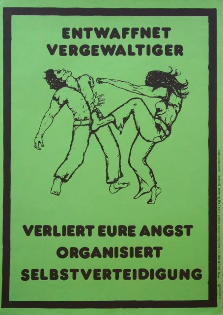 Plakat Selbstverteidigung, undatiert (FMT-shelfmark: PT.030)