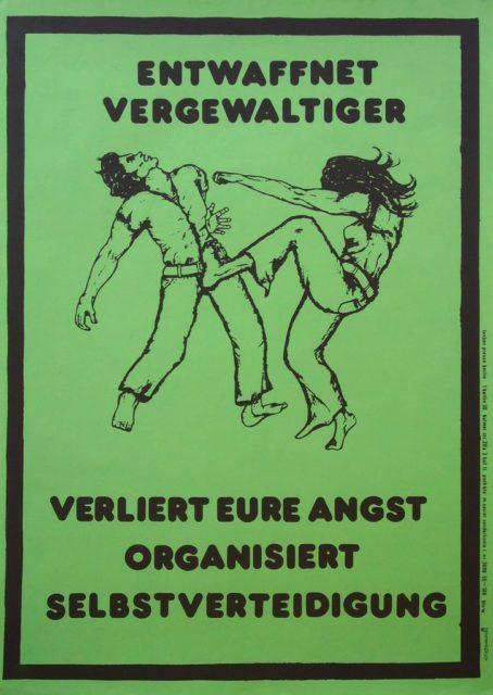Plakat Selbstverteidigung, undatiert (FMT-Signatur: PT.030)