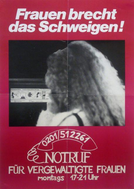 Plakat Frauennotruf, undatiert (FMT-Signatur: PT.002)