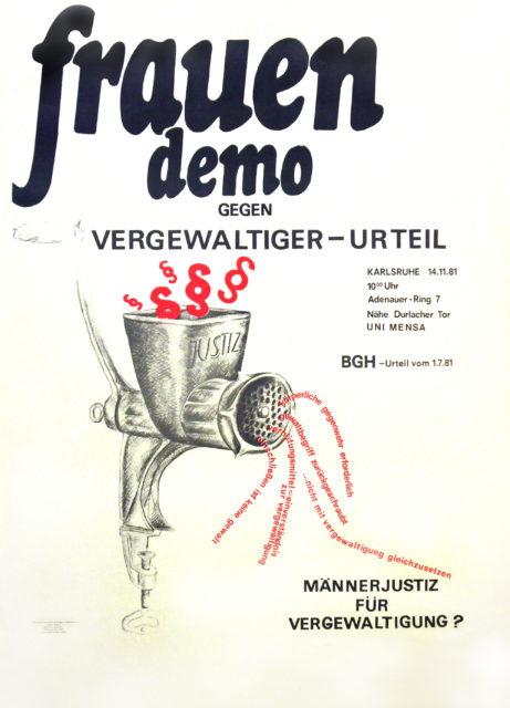 Frauendemo gegen Vergewaltiger-Urteil : Männerjustiz für Vergewaltigung? ; BGH-Urteil vom 1.7.1981 (FMT-shelfmark: PT.1981-06)