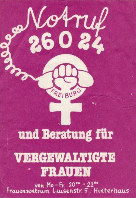 Aufkleber Frauennotruf (FMT-shelfmark: VAR.01.087)