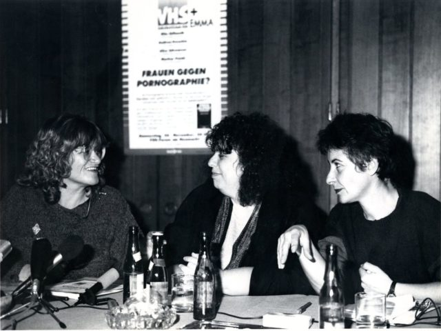 Pressekonferenz PorNo, 25.11.1987, © Bettina Flitner (FMT-Signatur: FT.02.2235)