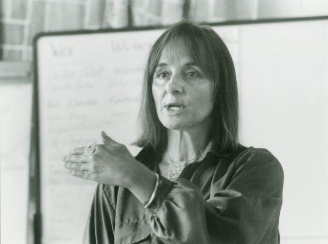 Senta Trömel-Plötz, 1987 © Erika Sulzer-Kleinemeier, 1.-7. Okt. 1987 Pfalz-Akademie Lambrecht Feministische Gesprächsanalyse mit Prof. Dr. Senta Trömel-Plötz