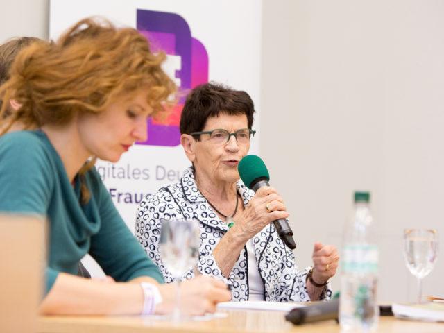 Sommeruni Abtreibungsdebatte Rita Süssmuth © Digitales Deutsches Frauenarchiv/Tanja Schnitzler