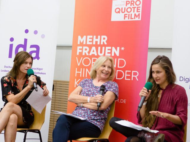 Feministische Sommeruni Frauen im Film Podium © Digitales Deutsches Frauenarchiv/Tanja Schnitzler