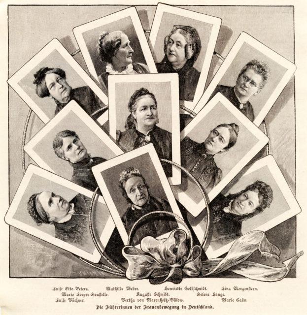Die Führerinnen der Frauenbewegung in Deutschland, Quelle: Die Gartenlaube, Kröner, Adolf [Hrsg.] - Leipzig: 1894, Heft 15, S. 257