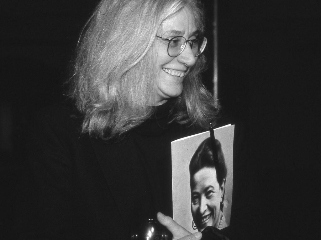 Ursula Scheu beim Beauvoir-Kongress im FrauenMediaTurm, 1999 (© Bettina Flitner)
