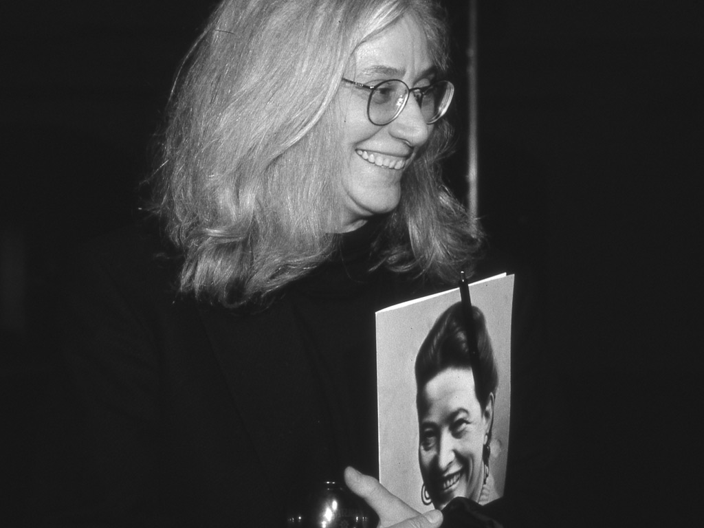 Ursula Scheu beim Beauvoir-Kongress im FrauenMediaTurm, 1999 (© Bettina Flitner)