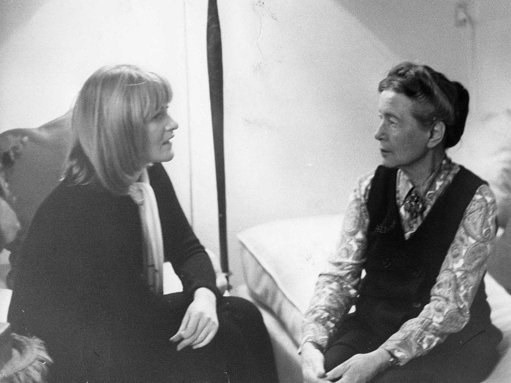 Alice Schwarzer interviewt Simone de Beauvoir, Paris 1971